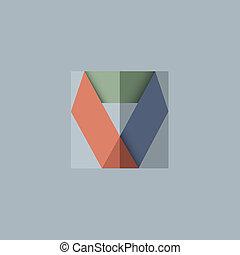 abstrakt, vektor, konstruktion, baggrund