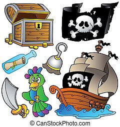 af træ, skib, sørøver, samling