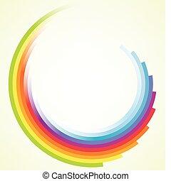 afføringen, farverig, baggrund, cirkelrund