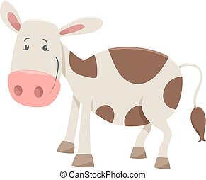 agerjord, karakter, kalv, dyr