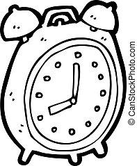 alarm, cartoon, stueur