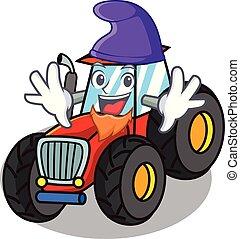alf, firmanavnet, karakter, cartoon, traktor
