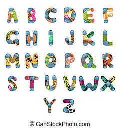 alfabet, alfabet.