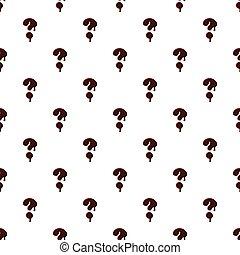 alfabet, chokolade, lavede, spørgsmål marker