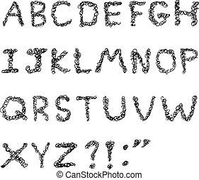 alfabet, grifle