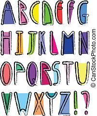 alfabet, kunstneriske