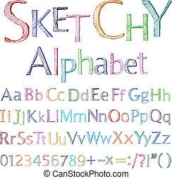 alfabet, sketchy