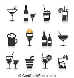 alkohol, ikon