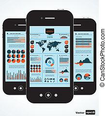 ambulant, graferne, infographic., sæt