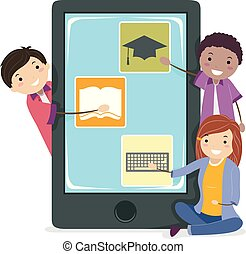 ambulant, stickman, teenagere, apps, udvikling