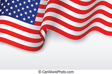 amerikaner, bølgede, flag