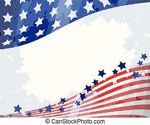 amerikaner, baggrund, strømme