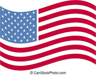 amerikaner, kunst, flag, hæfte