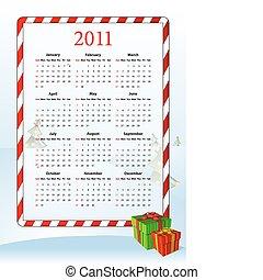 amerikaner, vektor, kalender