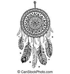 amerikansk indisk, drøm griber, etniske