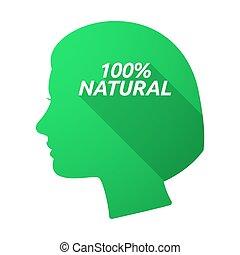 anføreren, 100%, isoleret, kvindelig, naturlig, tekst