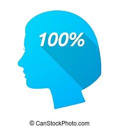 anføreren, 100%, isoleret, kvindelig, tekst