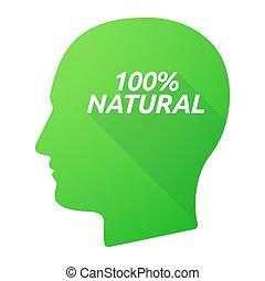 anføreren, 100%, isoleret, skygge, længe, naturlig, tekst, mandlig