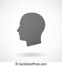 anføreren, baggrund, ikon, hvid mandlig