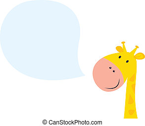 anføreren, giraf, smil, gul