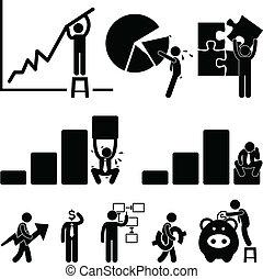 ansatte, finans, firma, kort