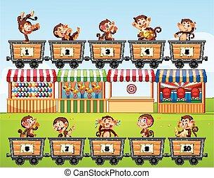 antal, aber, optælling, carts