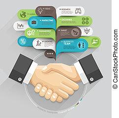antal, konstruktion, skabelon, væv, håndslag, style., tale, skabelon, boble, blive, bruge, firma, workflow, valgmuligheder, opsætning, foranstaltning, banner, diagram, illustration., infographic., oppe, vektor, dåse