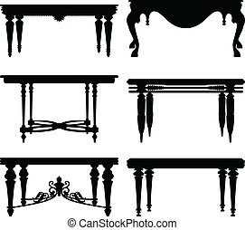 antik, tabel, ancient, klassisk
