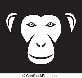(ape, anføreren, anføreren, abe, face)