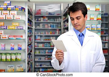 apoteker, læsning, receptpligtig, apotek