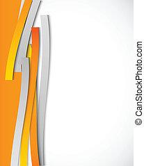appelsin, abstrakt, linjer, baggrund