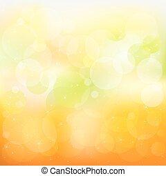 appelsin, abstrakt, vektor, baggrund, gul