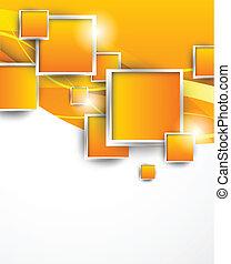 appelsin, kvadraterer, baggrund