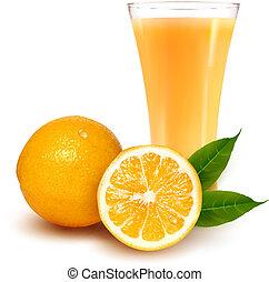 appelsin saft, frisk, glas