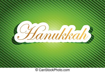 arbejde, hanukkah, tegn, tekst