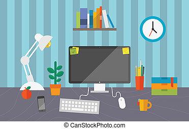 arbejde kontor, arealet