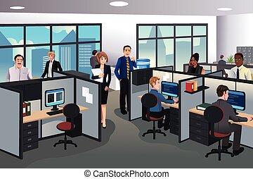 arbejde kontor, folk