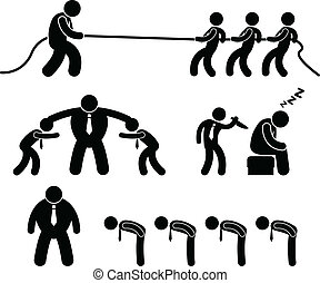 arbejder, firma, kampen, pictogram