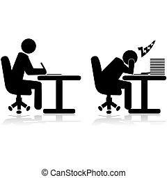 arbejder, trætt