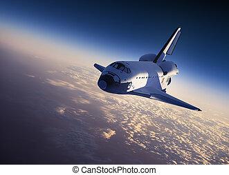 arealet, landgangen, shuttle