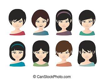 asian kvindelig, avatar