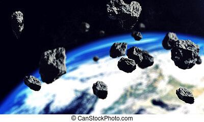 asteroids, arealet, bælte