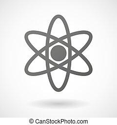 atom, baggrund, ikon, hvid