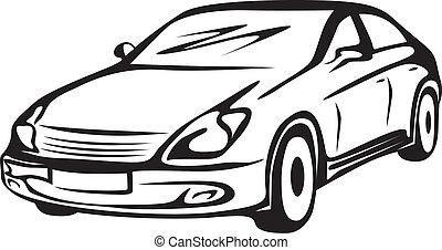 automobil, kontur