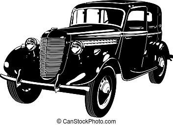 automobilen, retro