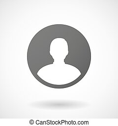avatar, baggrund, ikon, hvid mandlig