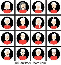 avatars., mandlig, kvindelig