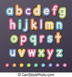 avis, lille, alfabet, breve