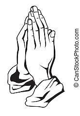bøn, hånd