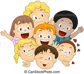 børn, glade